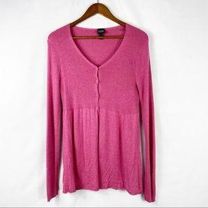 EILEEN FISHER Silk Cashmere Cardigan Sweater - M